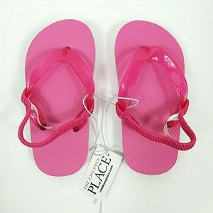 NWT The Children's Place Pink Sandals Sz 8-9